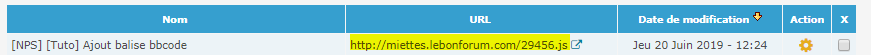 Ajouter des balises BBcode à son forum Url-js10