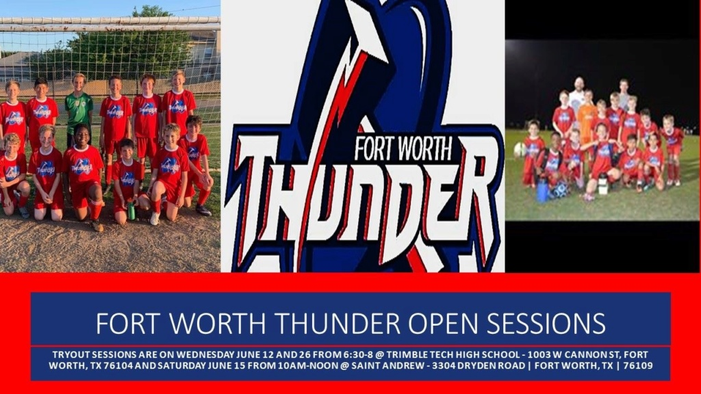 Fort Worth Thunder - Not D1 Classic - Not DA - Tryouts 12990010