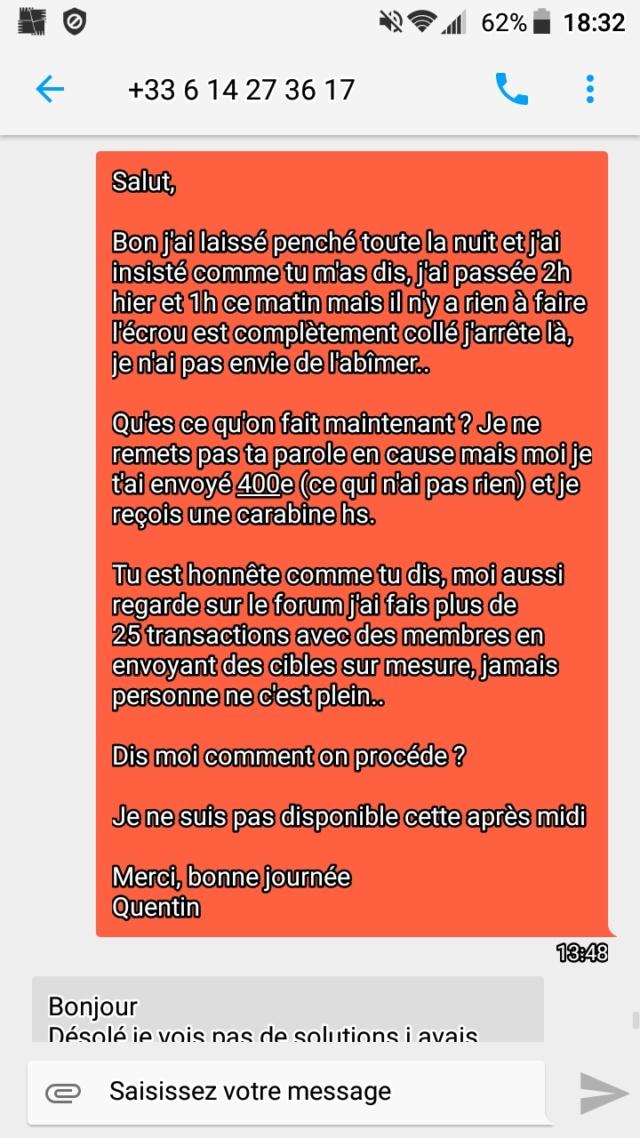 Problème Airforce Condor ss .22 Screen84