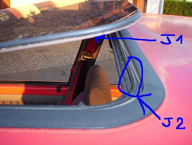 [ Ford Puma 1.7 an 1997 ] Remplacement des joints de toit ouvrant Joints10