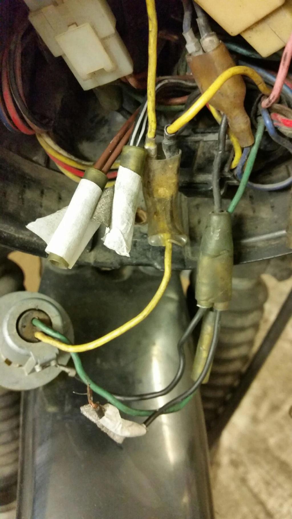 Câblage contacteur frein avant dtmx 125 729010