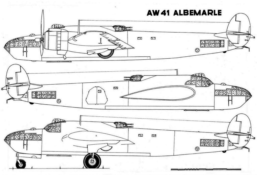 """Armstrong-Whitworth AW 41 """"ALBEMARLE"""" au 1/48 scratch en bois massif (Projet AA): préparation à la peinture - Page 9 0116"""