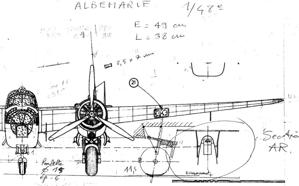 """Armstrong-Whitworth AW 41 """"ALBEMARLE"""" au 1/48 scratch en bois massif (Projet AA): préparation à la peinture - Page 9 0515"""