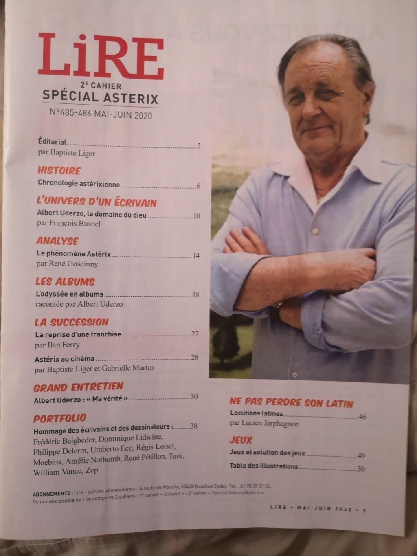 Hommage A. Uderzo Magazine LIRE  mai 2020 Img_2092