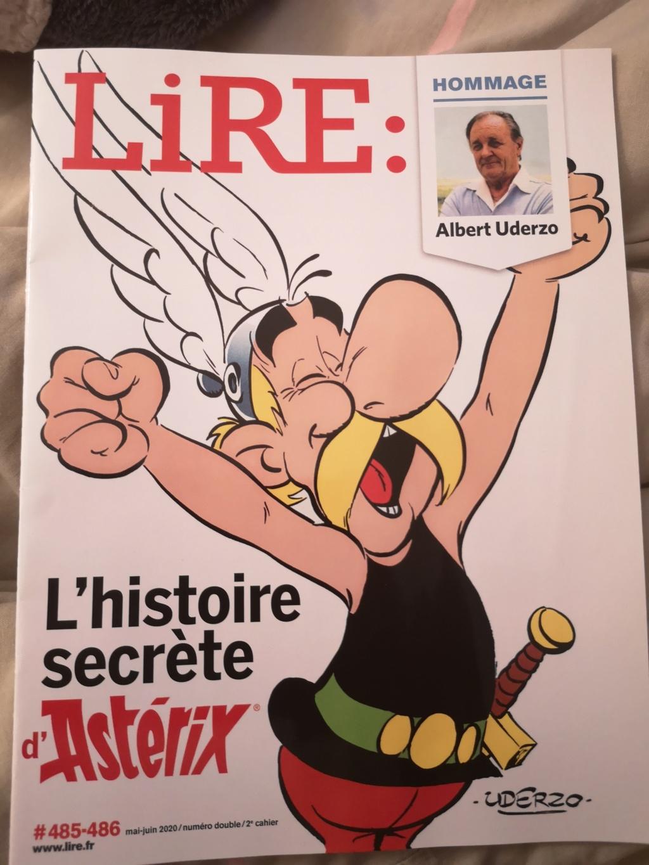 Hommage A. Uderzo Magazine LIRE  mai 2020 Img_2093