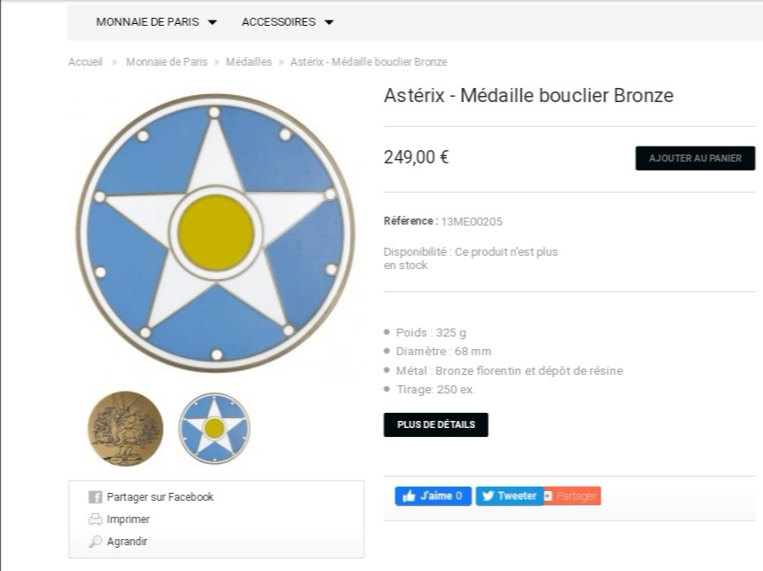 Médaille bouclier Monnaie de Paris Screen47