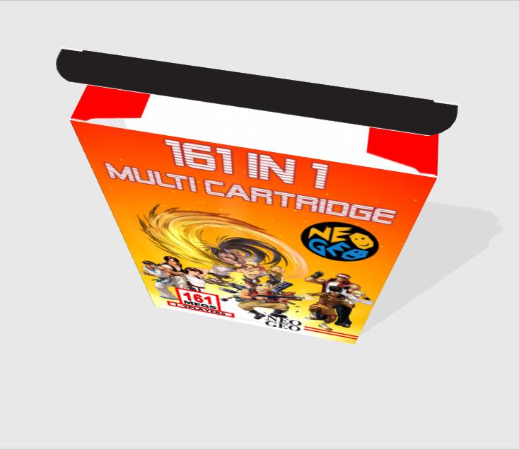 [WIP - 100%] Boite carton custom 161 in 1 MVS Top-3d11
