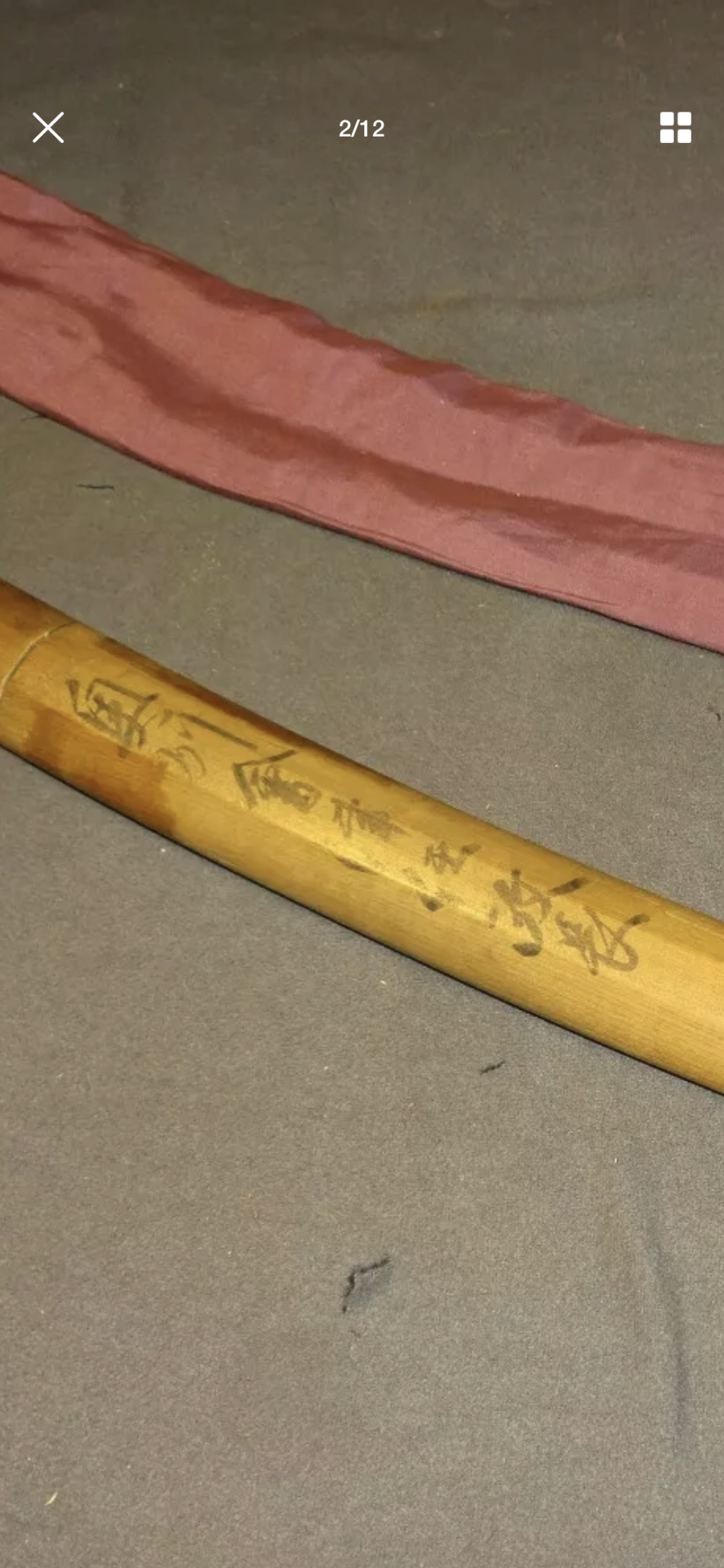 sabre japonnais wakizashi  avec signature  Hizen Tadayoshi 84b15510