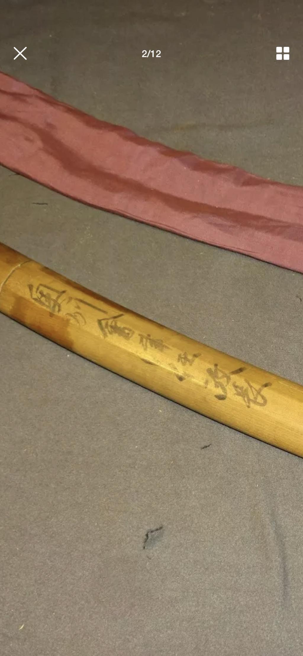 sabre japonnais wakizashi  avec signature  Hizen Tadayoshi B8899410