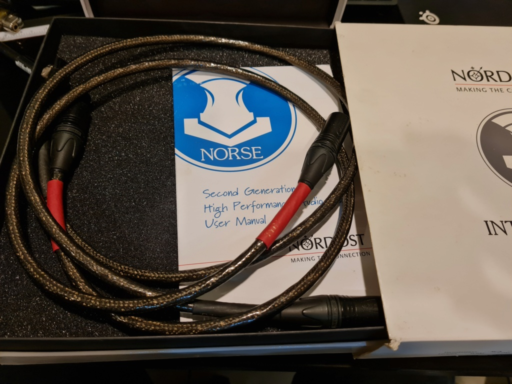 Nordost Tyr2 Norse 2 Series XLR Interconnect Cables 1m Pair (Used) 20210116