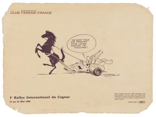 Dessins d'Albert Uderzo pour Ferrari 1957_110