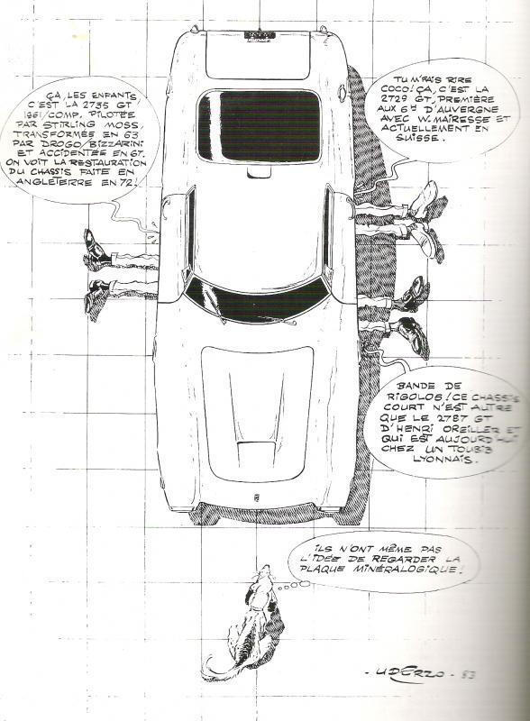 Dessins d'Albert Uderzo pour Ferrari Ferrar10