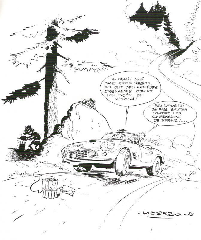 Dessins d'Albert Uderzo pour Ferrari Ferrar11