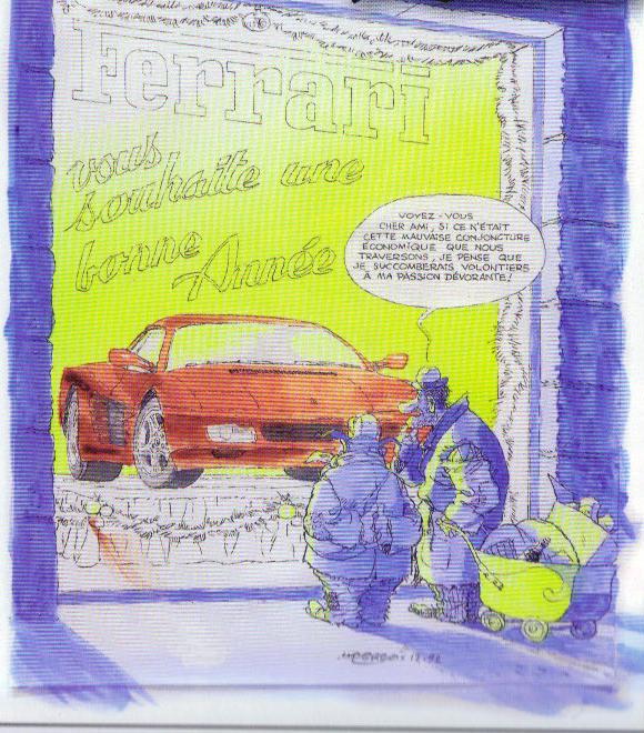 Dessins d'Albert Uderzo pour Ferrari La_cri10