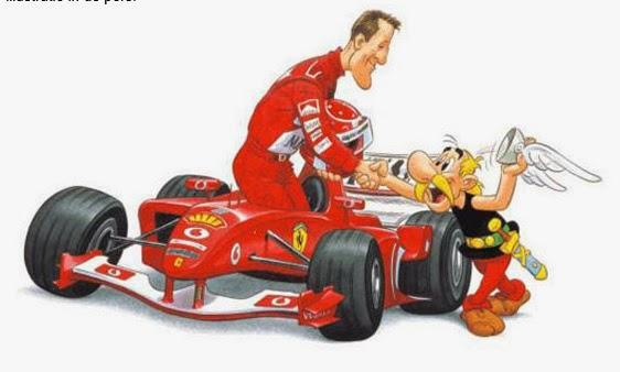 Dessins d'Albert Uderzo pour Ferrari Uderzo10