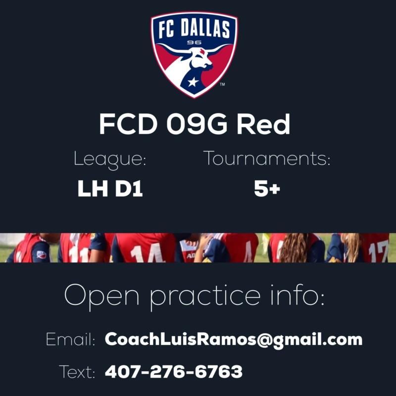 (LHGCL D1 Bye) FC Dallas 09G Red - Open Practice Img_9611