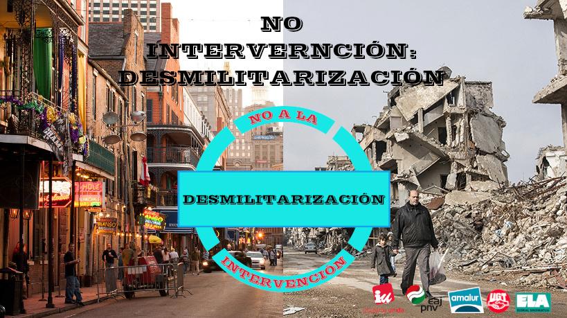 "11 de Mayo   Manifestación ""No intervención: Desmilitarización"".  No_gue11"