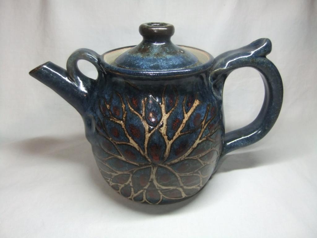 blue floral teapot  - John Egerton  Dscf3013