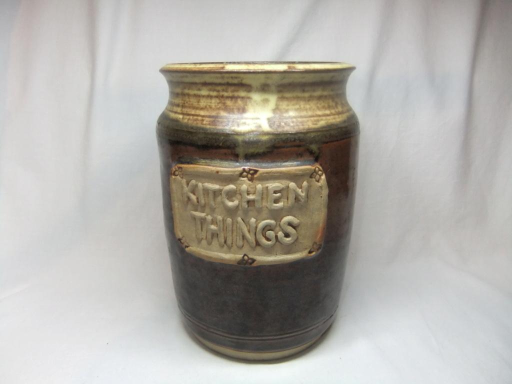 Kitchen Utensil Storage Jar Marked JP? Dscf3510