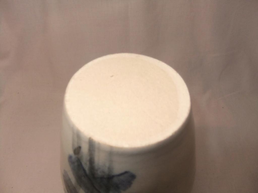 Pottery Blue Vase... Colin Hatfield? Dscf5614