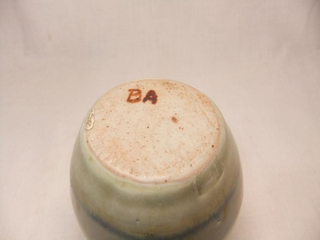 Small Vase With BA & Arrow/A Mark - Dartington Pottery  Dscf5626