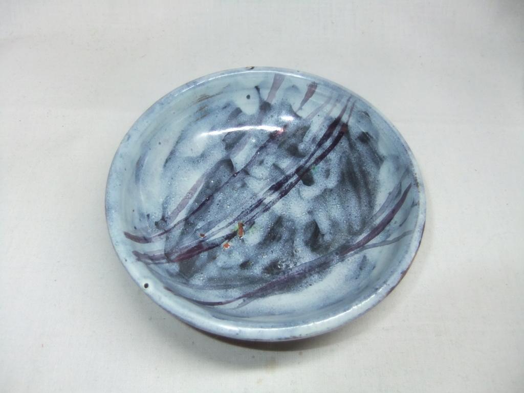 Blue Dish/Bowl - Three Dots In An Oval Maker? Dscf6112