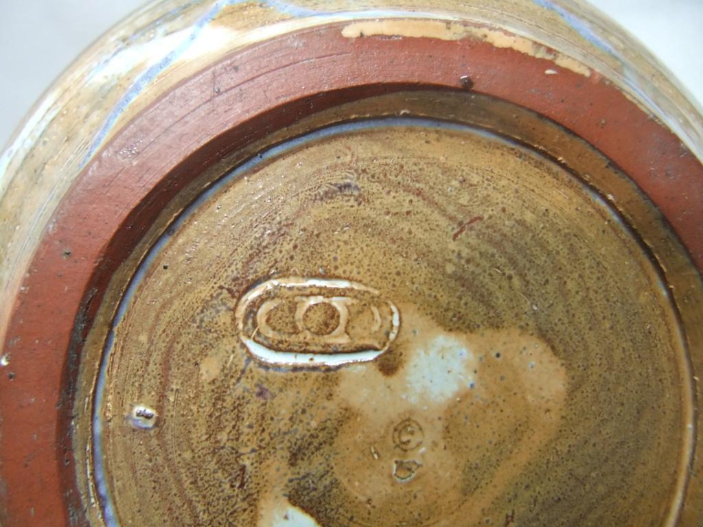 Blue Dish/Bowl - Three Dots In An Oval Maker? Dscf6114