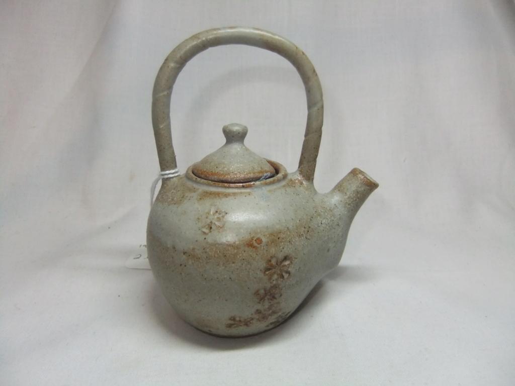 Mini Small Teapot Ornament Marked C? Mathod Pottery? Dscf6710