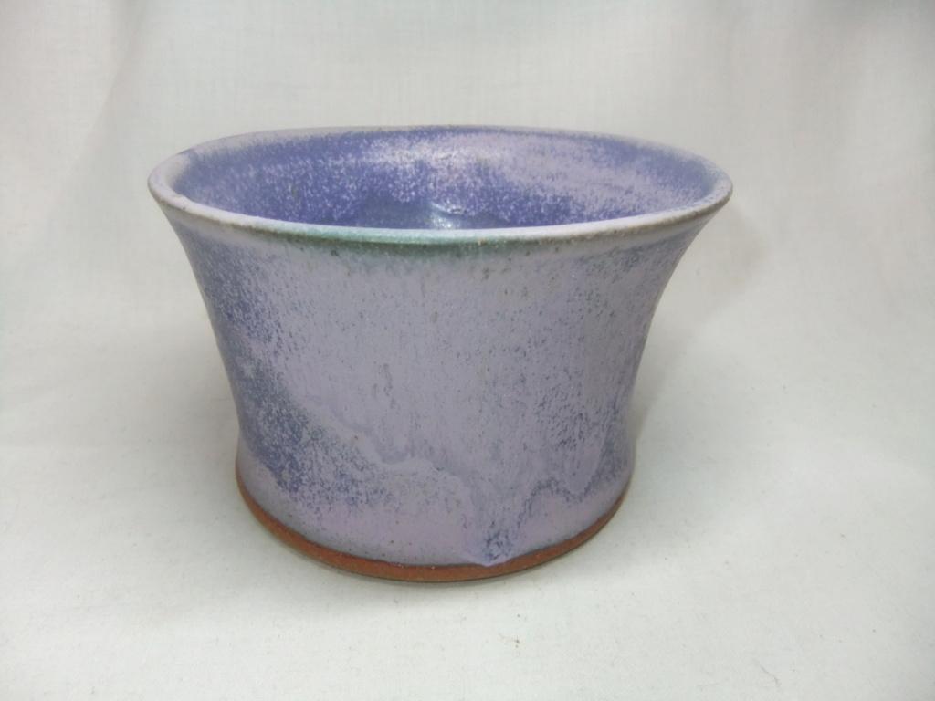 "Purple Bowl/Dish Signed ""Sara X"" Dscf9510"