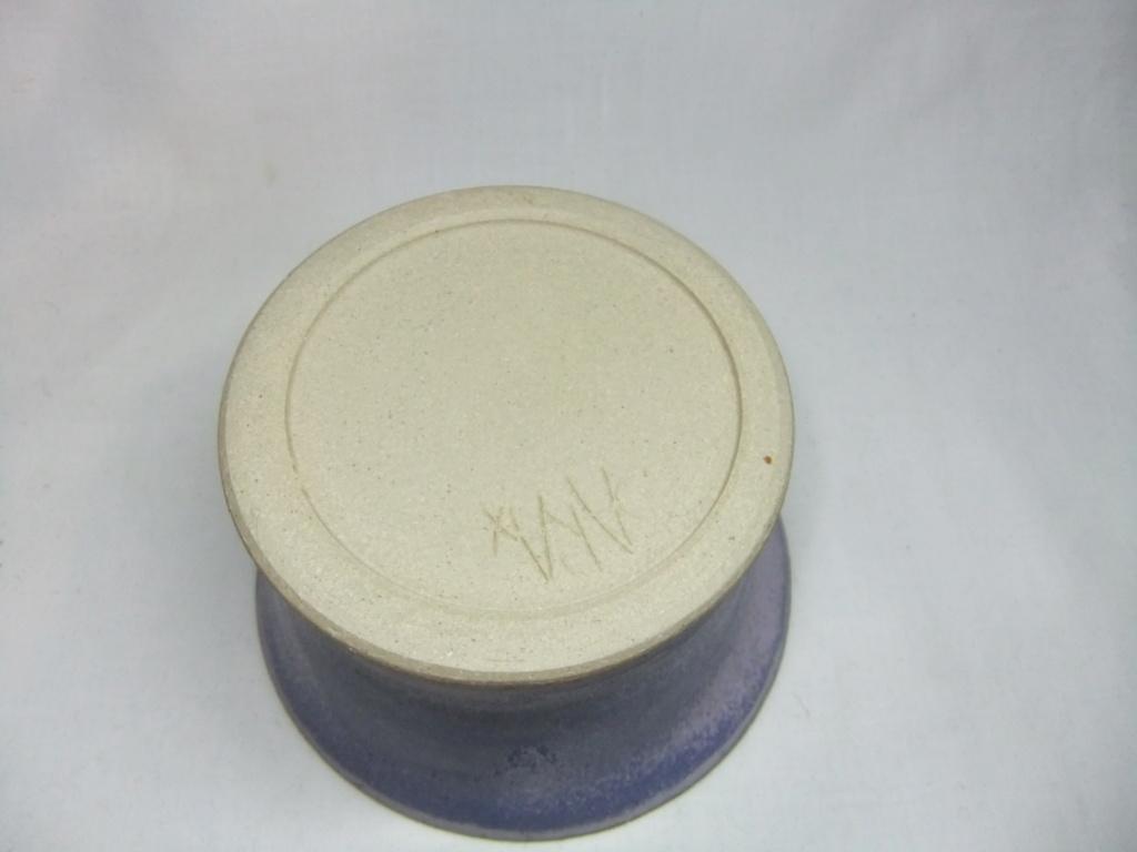 "Purple Bowl/Dish Signed ""Sara X"" Dscf9511"