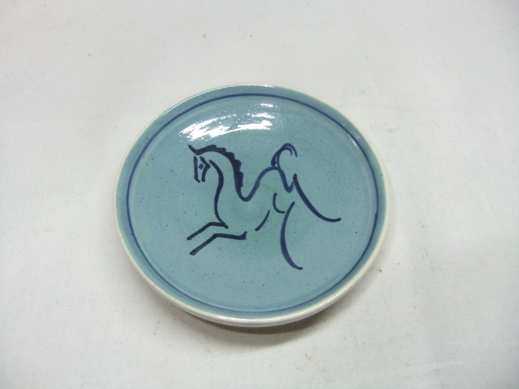 Small Blue Horse Dish by Marie Seviers Dscf9853