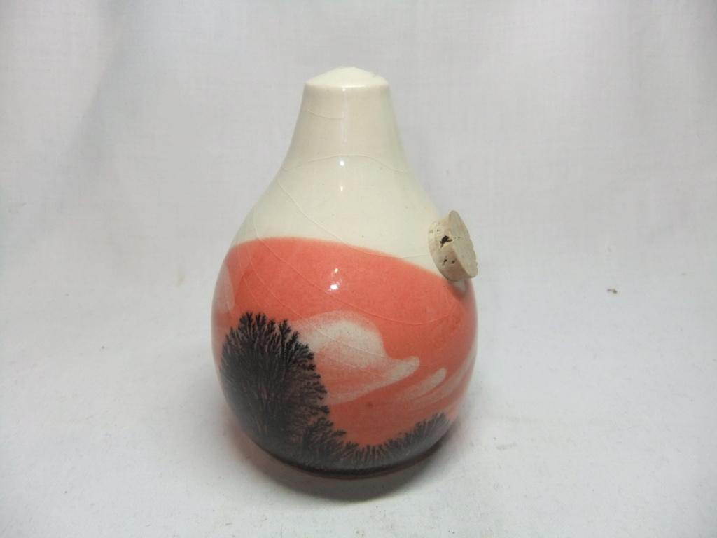 Mochaware pottery salt shaker by Boscastle Pottery  Dscf9864