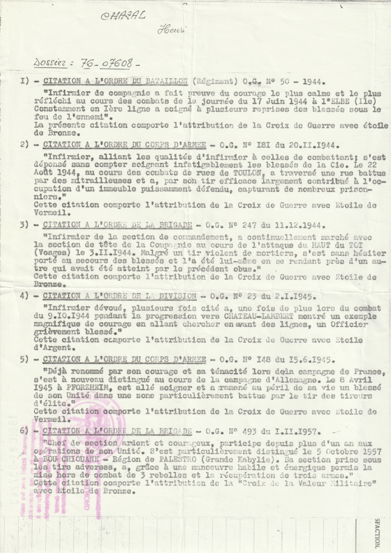 Henri Chazal Infirmier du Bataillon Citati10