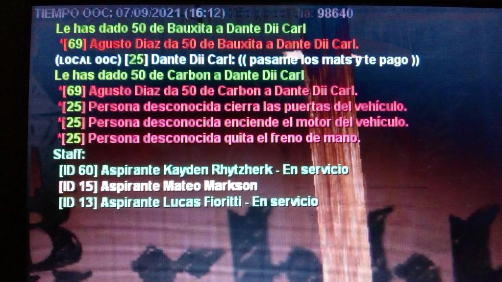 Reporte, a Dante Dii Carl. Sin spec  Img_2018