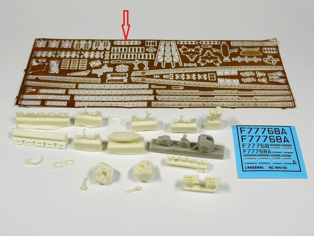 L'ALSACIEN Escorteur-rapide - 1/400 Heller + kit l'Arsenal - Page 5 A111