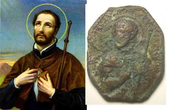 medalla S. Ignacio y S. Fco Javier. S.XVII San_fr10
