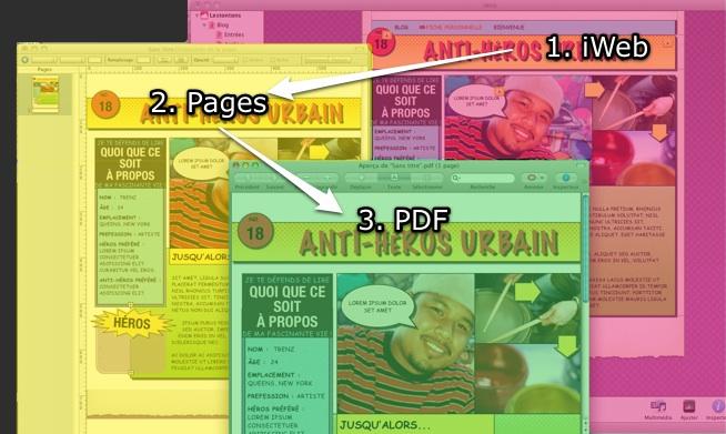 Document pdf à partir de plusieurs pages site sur Iweb 112 Iweb2p10