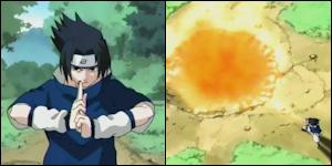 Sarutobi Hiruzen & Shiranui Genma VS Yagura & Kurogane Shion Katon_18