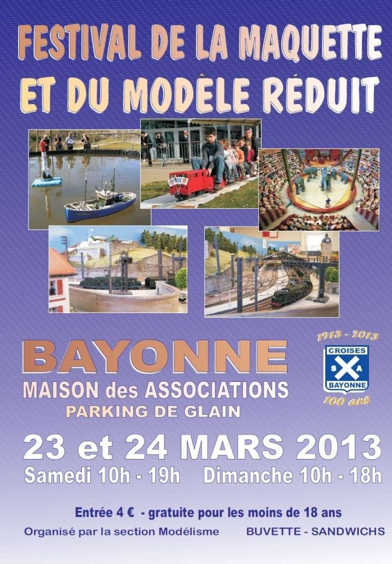15° Festival de la maquette et du modèle réduit de Bayonne. Affich10