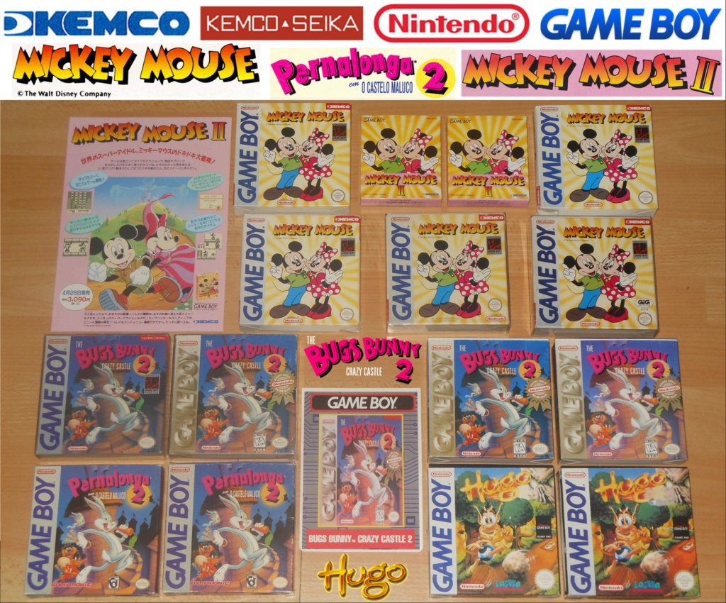 Jeux Gameboy : cartouches et variantes Mickey10