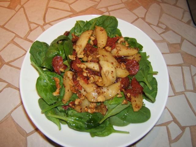 Salade d'épinards au chorizo et aux pommes !! (photo) Recett11