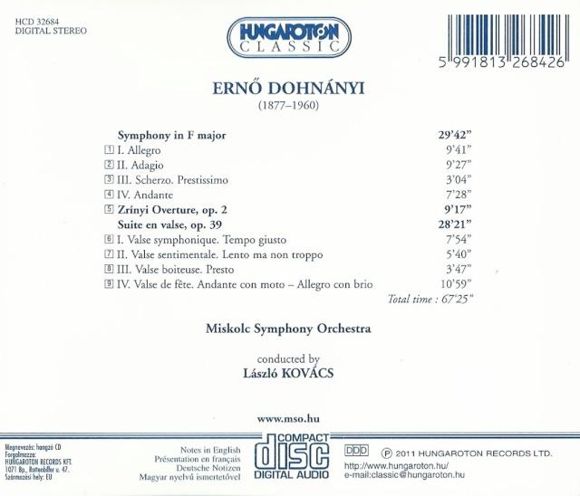 Ernst von Dohnányi (1877-1960) Back23