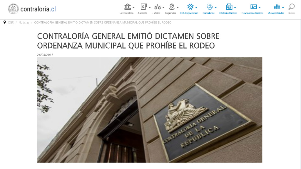 CONTRALORIA DECLARA ILEGAL ORDENANZA MUNICIPAL PROHÍBE RODEO Contra10