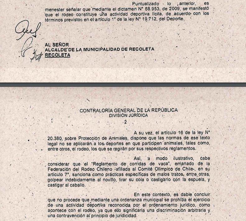 CONTRALORIA DECLARA ILEGAL ORDENANZA MUNICIPAL PROHÍBE RODEO Recole11