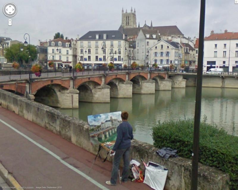 STREET VIEW : Peintre amateur à Nuremberg ( Allemagne ) Meaux10
