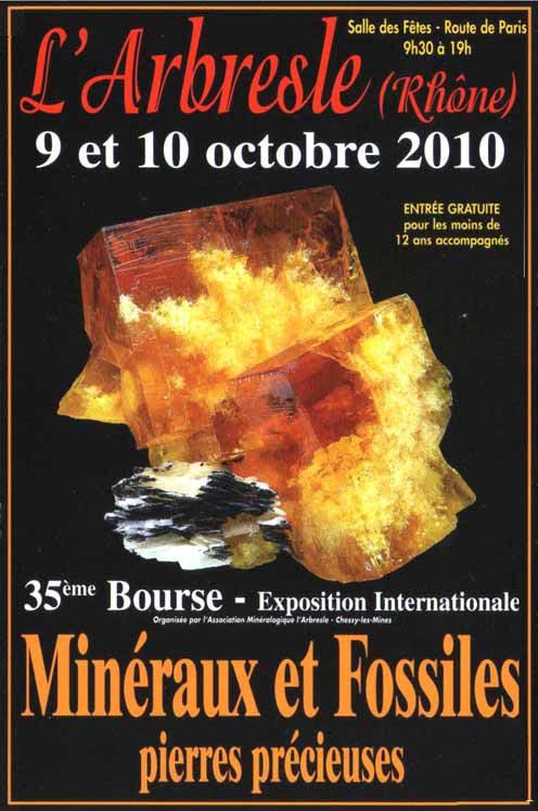 2010- Bourse aux Minéraux et Fossiles, pierres précieuses de l'Arbresle Bourse10