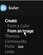 Kuler : créer nuancier 5 couleurs 0112