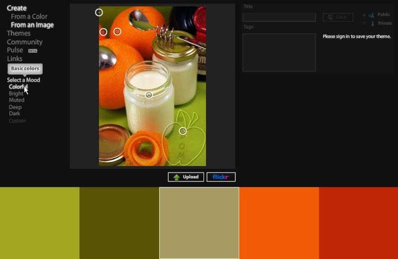 Kuler : créer nuancier 5 couleurs 03_sel10