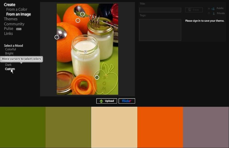 Kuler : créer nuancier 5 couleurs 09_cus10
