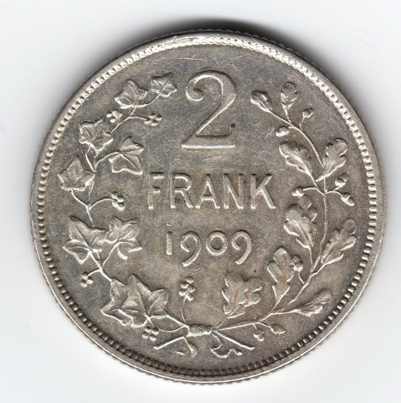 2 Frank. Bélgica. 1909. Bruselas Img58110